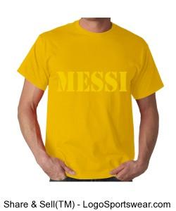 MESSI Soccer Player Jersey Design Zoom